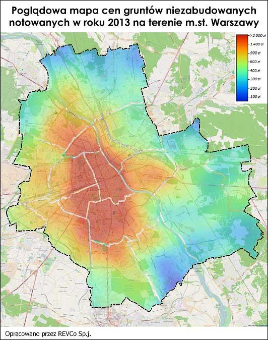 d74d481f992fc7 d) izolinie Warszawa - kolejnym przykładem jest modyfikacja mapy  warszawskiej. Różnicą jest wrysowanie izolinii, które w umowny sposób  wskazują zakres ...